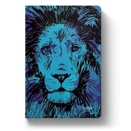 Bíblia Leão Azul | NVI | Letra Normal | Capa Flexível