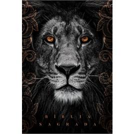 Bíblia Leão Cinza | NAA Letra Normal | Capa Dura