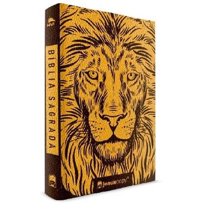 Bíblia Leão Dourado Jesus Copy | NVI | Letra Normal |  Capa Luxo