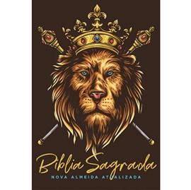 Bíblia Leão Dourado | NAA Letra Normal | Capa Dura Soft-Touch