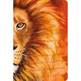 Bíblia Leão Laranja   ACF   Letra Grande   Capa Dura Soft Touch
