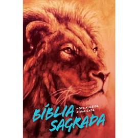 Bíblia Leão Laranja | NAA Letra Normal | Capa Dura Soft-Touch