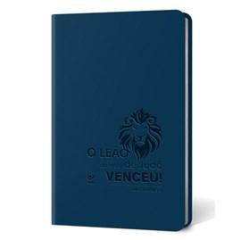 Bíblia Leão | Letra Normal | AEC | Capa PU Azul Luxo