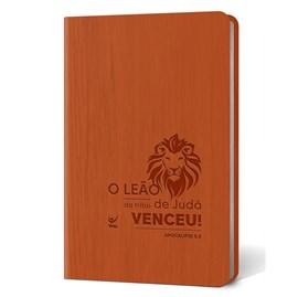 Bíblia Leão | Letra Normal | AEC | Capa PU Laranja Luxo