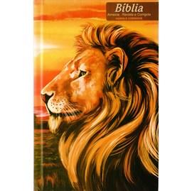 Bíblia Leão Paisagem | ARC | Letra Normal | Harpa e Corinhos | Capa Dura
