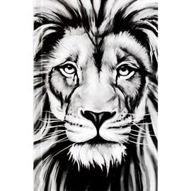 Bíblia Leão Preto e Branco | ARC | Letra Normal | Harpa e Corinhos | Capa Dura