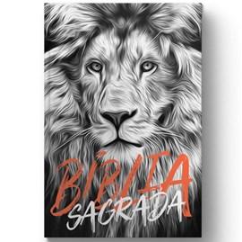 Bíblia Leão Preto e Branco | NAA | Letra Normal | Capa Dura Ilustrada