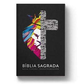 Bíblia Leão Yeshua Cruz   NVT   Letra Normal   Capa Dura
