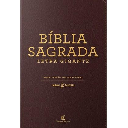 Bíblia Leitura Perfeita NVI   Letra Gigante   Marrom