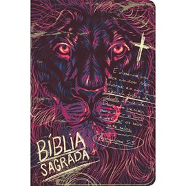 Bíblia Lion Chalk   ACF   Letra Grande   Capa Dura Soft Touch