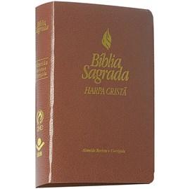 Bíblia Média Harpa Cristã   ARC   Marrom