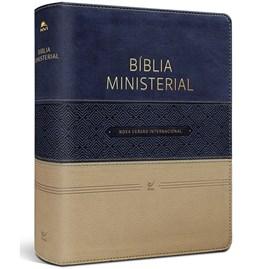 Bíblia Ministerial | NVI Letra Normal | Capa Azul e Bege C/ Índice