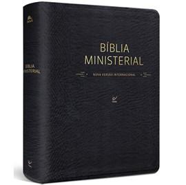 Bíblia Ministerial | NVI Letra Normal | Capa PU Preta