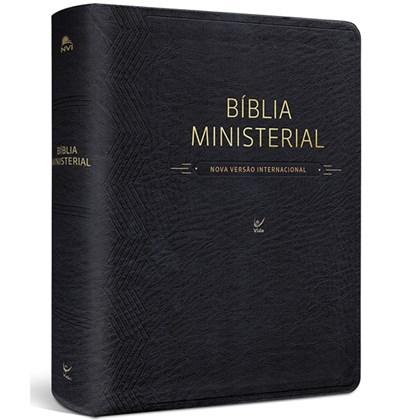 Bíblia Ministerial   NVI Letra Normal   Capa PU Preta