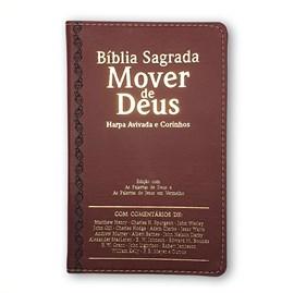 Bíblia Mover de Deus | ARC | Letra Grande | Harpa Avivada e Corinhos | Capa PU Bordo