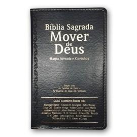 Bíblia Mover de Deus | ARC | Letra Grande | Harpa Avivada e Corinhos | Capa PU Preta