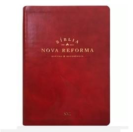 Bíblia Nova Reforma Estudo e Referência   NVI   Vermelha Luxo
