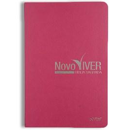 Bíblia Novo Viver | NVI | Letra Normal | Capa Semi-Luxo Rosa