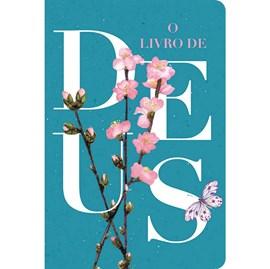 Bíblia O Livro de Deus Floral Azul | NVT | Letra Normal | Capa Dura