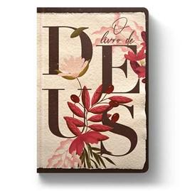 Bíblia O Livro de Deus Floral Creme | NVT | Letra Normal | Capa Dura