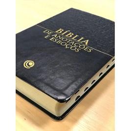 Bíblia para Anotações e Esboços | ARC | Preta | C/ Hinário das Assembleias de Deus