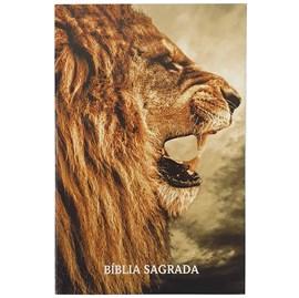 Bíblia para Evangelismo Leão Perfil   ARC   Letra Normal   Brochura
