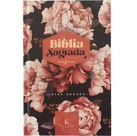 Bíblia Peônias Rosadas | Leitura Perfeita | ACF | Letra Grande | Capa Dura