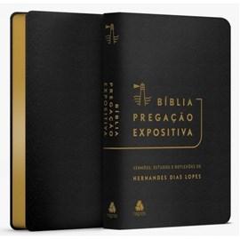 Bíblia Pregação Expositiva | ARA | Letra Normal | PU luxo preta | Hernades Dias Lopes