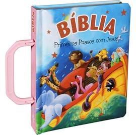 Bíblia Primeiros Passos Com Jesus | Letra Normal | TNL | Capa Ilustrada Alça Rosa