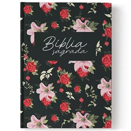 Bíblia Rosas | Letra Normal | NAA | Capa Dura