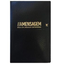 Bíblia Sagrada - A Mensagem |  Capa Couro Sintético Preto