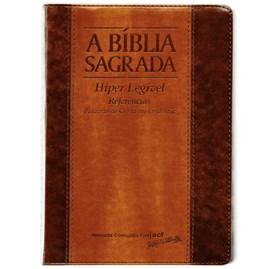 Bíblia Sagrada   ACF   Hiper Legível   Capa Bicolor Chocolate Havana C/ Índice