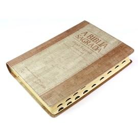 Bíblia Sagrada   ACF   Hiper Legível   Capa Bicolor Cortiça e Madeira C/ Índice