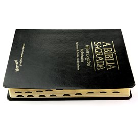 Bíblia Sagrada   ACF   Hiper Legível   Capa Preta C/ Índice