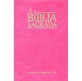 Bíblia Sagrada | ACF | Letra Gigante | Capa Rosa Semi-Luxo