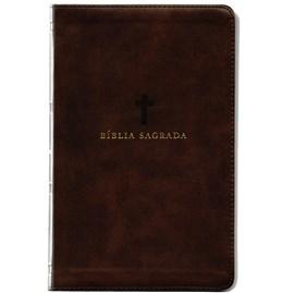 Bíblia Sagrada | ACF | Letra Grande | Soft Touch Couro Marrom