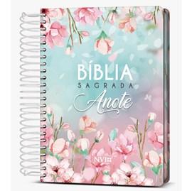 Bíblia Sagrada Anote Espiral Magnólia | NVI | Letra Normal | Capa Dura