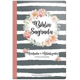 Bíblia Sagrada | ARA | Letra Grande | Guirlanda Floral Capa Dura