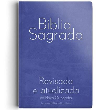 Bíblia Sagrada | ARA | Letra Grande | Semi-Luxo Azul Capa Dura