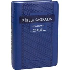 Bíblia Sagrada | ARC | Letra Gigante | Azul Arabesco C/ Índice