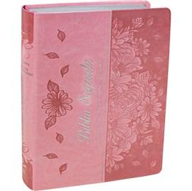 Bíblia Sagrada   ARC   Letra Gigante   Capa Rosa Claro C/ Índice