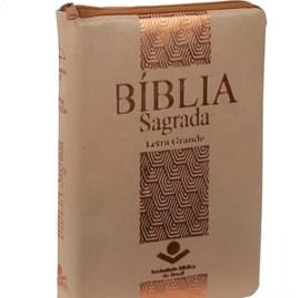 Bíblia Sagrada | ARC Letra Grande | C/ Índice e Zíper | Capa Vinil Nude