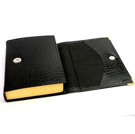 Bíblia Sagrada Carteira   ACF   Letra Gigante & Referências   Croco Preta