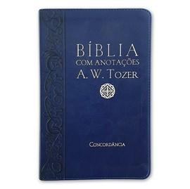 Bíblia Sagrada com Anotações A.W. Tozer | Letra Normal | ARC | Luxo - Azul