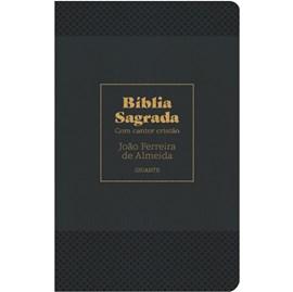 Bíblia Sagrada Com Cantor Cristão | ARC | Letra Gigante | Capa Preta