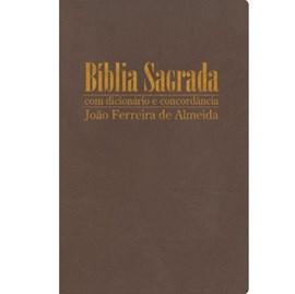 Bíblia Sagrada com Dicionário e Concordância | RC Gigante | Capa Bronze