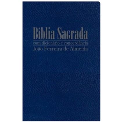 Bíblia Sagrada com Dicionário e Concordância | RC Gigante | Capa Luxo Azul
