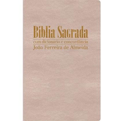 Bíblia Sagrada com Dicionário e Concordância | RC Gigante | Capa Luxo Marfim Perola