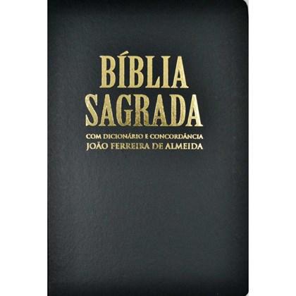 Bíblia Sagrada com Dicionário e Concordância   RC Gigante   Capa Luxo Preta