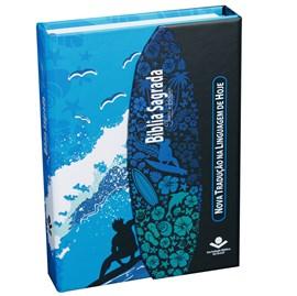 Bíblia Sagrada Com Fonte de Bençãos | Letra Maior | NTHL | Capa Ilustrada Surf